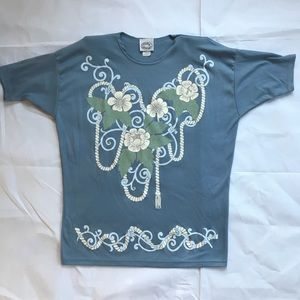 Vtg 80s 90s bedazzled T-shirt medium